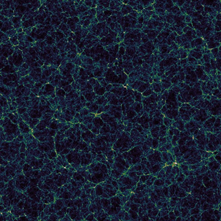 Giant voids of the cosmos are helping scientists make more precise maps of the universe. This simulated view of the large-scale structure of the universe shows the vast cosmic web of galaxies, as well as the dark, empty expanses of the cosmic voids in between. Credit: Nico Hamaus, Universitäts-Sternwarte München, courtesy of The Ohio State University