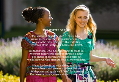 "New Verse to ""As Sisters in Zion"" written by Janice Kapp Perry for the new wave of LDS Sister missionaries"
