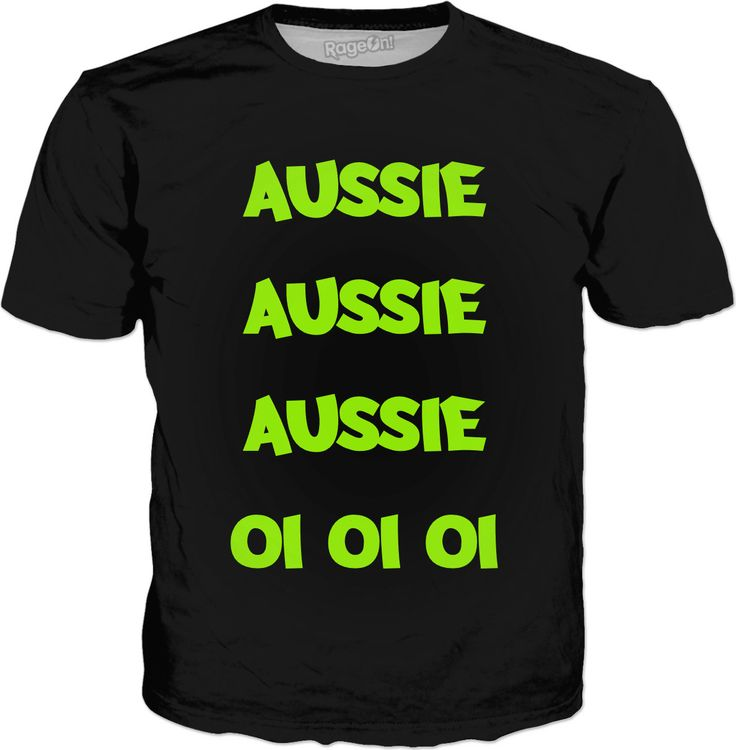 AUSSIE AUSSIE AUSSIE OI OI OI Cheer Squad T-Shirt by Terrella available at https://www.rageon.com/products/aussie-aussie-aussie-oi-oi-oi?aff=BSDc on RageOn!