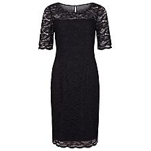 Buy Precis Petite Embellished Lace Dress, Black Online at johnlewis.com