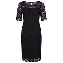 Buy Precis Petite Embellished Lace Dress, Black Online at johnlewis.com