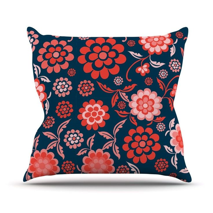 Cherry Floral Throw Pillow