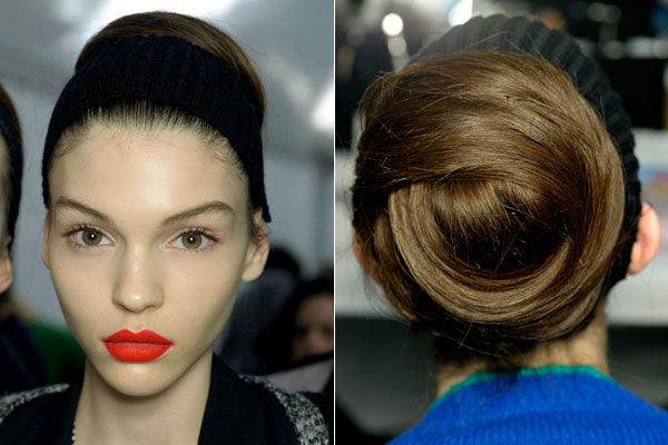 Fall Hair Trends to Try: Party in the back at Nina Ricci
