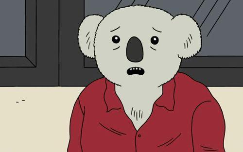Doug the Koala man in a meeting.