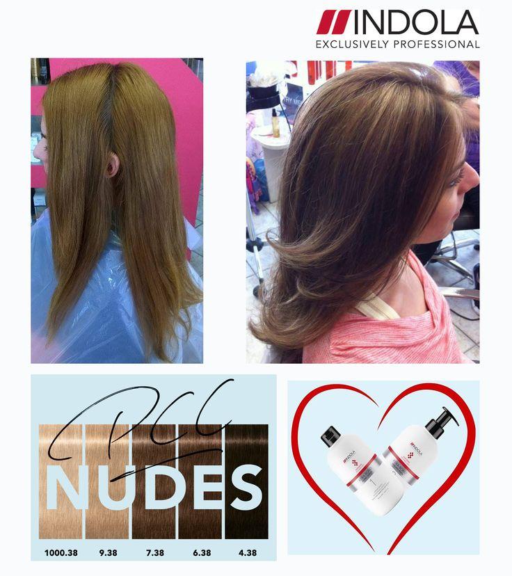 #Indola #nudes #kerabond #haircolor #haircare Think smart, think Indola