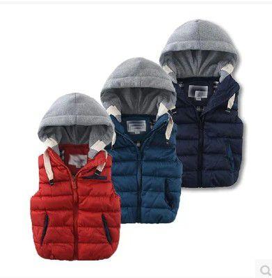 Дети 2016 года новая весна и зима в Европе и Америке мальчик ребенка плюс хлопка стеганые ребенка с капюшоном жилет жилет куртки - Taobao