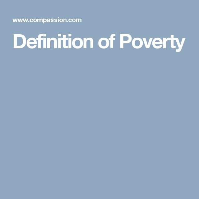 Definition of Poverty