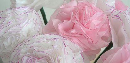 DIY Tissue Paper Carnations