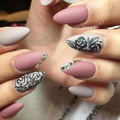 40 Simple And Clean Almond Nail Designs #naildesignideaz #naildesign  #almondnaildesign ♥ If you - 39 Best Almond Nail Designs Images On Pinterest Nail Design