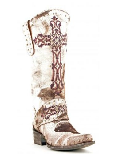 """Old Gringo Krusts Brown & White 13"""" Boots L1295-4 Krusts"""