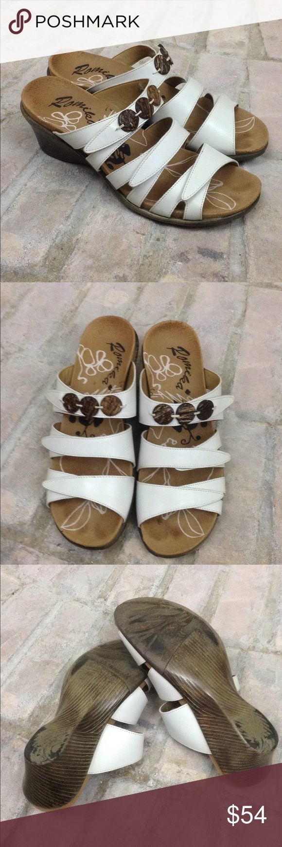 Romika Wedge Sandals Romika Wedge Sandals  Size 38/US Adjustable Velcro straps  Great preowned condition/minor scuffs near toe/see pictures  Any questions just ask! Romika Shoes