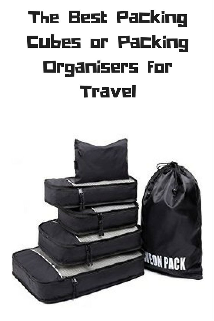The Best Packing Cubes or Packing Organisers for Travel
