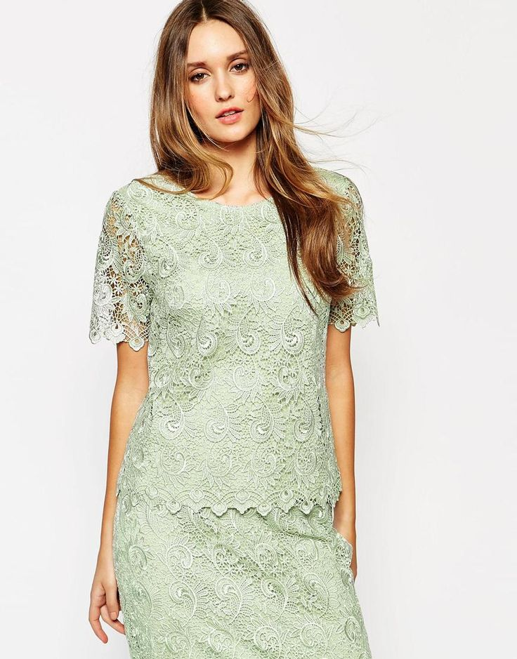 Reiss Garda Lace Top