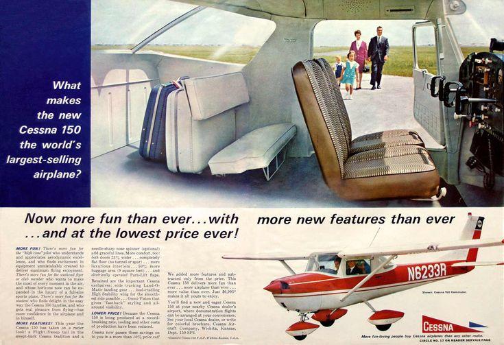 Cessna 150 advertisement.