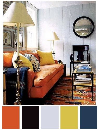 living room with orange sofa 25 best ideas about mustard color scheme on 23819