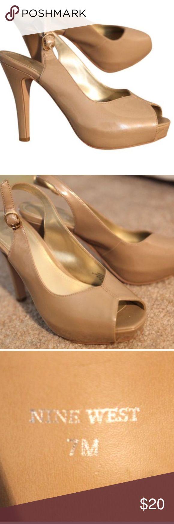 Nine West Tan Sling Back Pumps Nine West Tan Sling Back Pumps Size: US 7 Regular (M, B) Nine West Shoes Heels