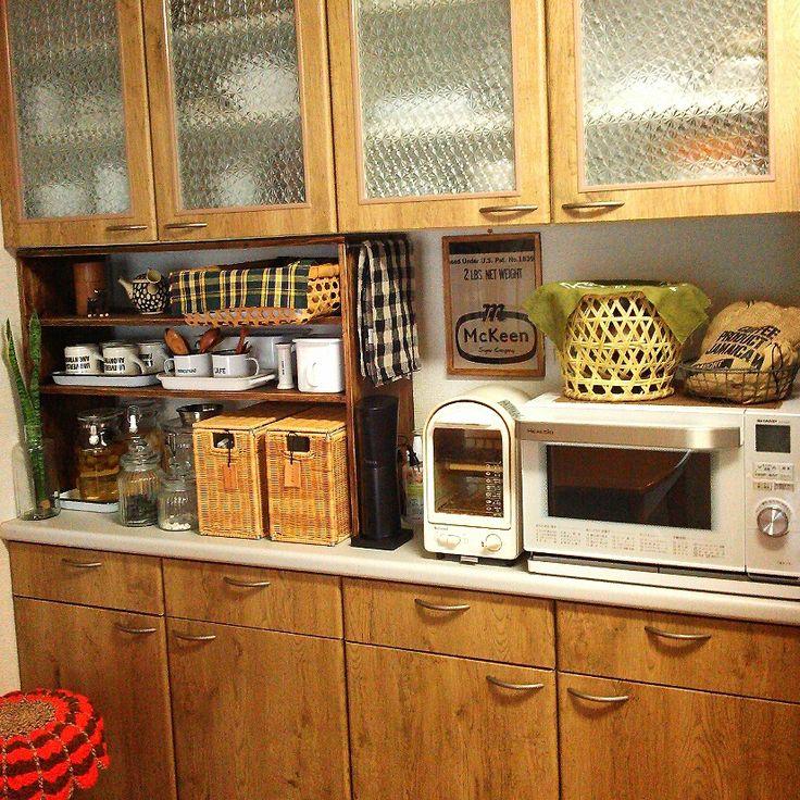 リメイク/壁紙屋本舗/DIY/キッチン収納/Kitchenのインテリア実例 - 2014-07-07 06:41:58 | RoomClip(ルームクリップ)