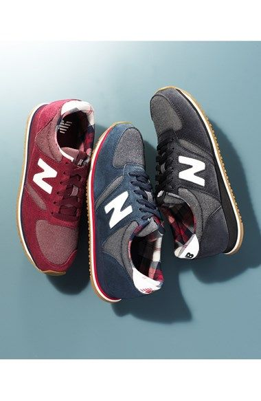 New Balance '420' Sneaker - ordered these in blue & black, love the plaid lining