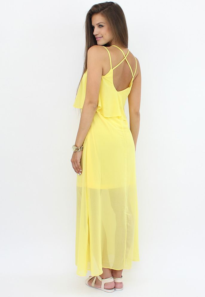 Breezy Sheer Maxi Dress for a city break..:)  #dress #moda #fashion #rochii #shopping