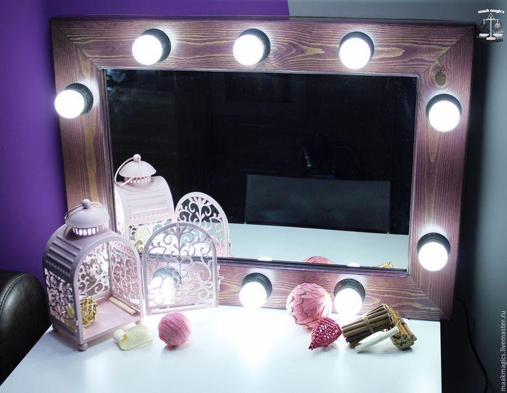 Купить Гримерное зеркало Vintage Purple MAAK Magic's - фиолетовый, дерево, гримерное зеркало, зеркало