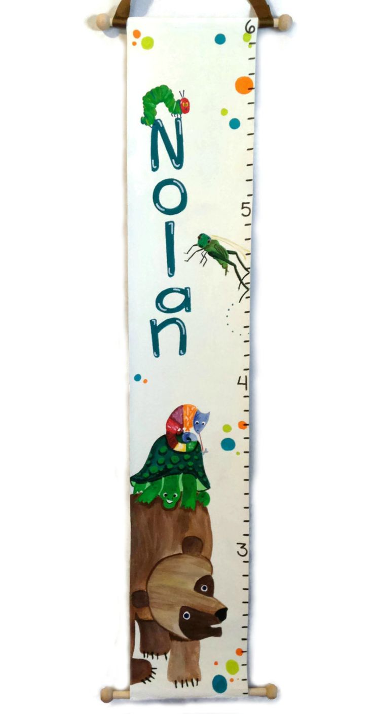131 best nursery images on pinterest baby rooms growth charts eric carle inspired custom canvas growth chart by myartsybaby on etsy httpswww nvjuhfo Choice Image
