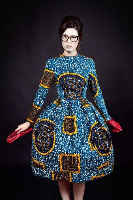 Designer African Wax Print Dress- Made-to-Measure - African Print Dress- Classic Dress- Custom Made