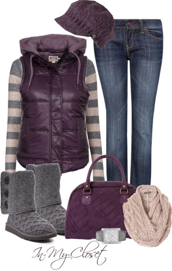 """Casual - #27"" by in-my-closet on Polyvore, love all except jacket, really love the hat:"