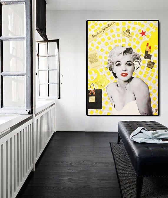 GICLEE PRINT Marilyn MONROE Stretched Ready To Hang Large
