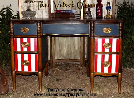 Red white and blue American pride painted desk99 best red  white and blue furinture images on Pinterest  . Red White And Blue Painted Furniture. Home Design Ideas