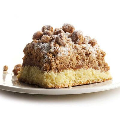Our traditional crumb cake, rich buttery cake piled high with crumbs. Take rich cake made with fresh eggs and sweet cream butter. Then add fruit. Or chocolate chips. Or walnuts. Or nothing. And top it