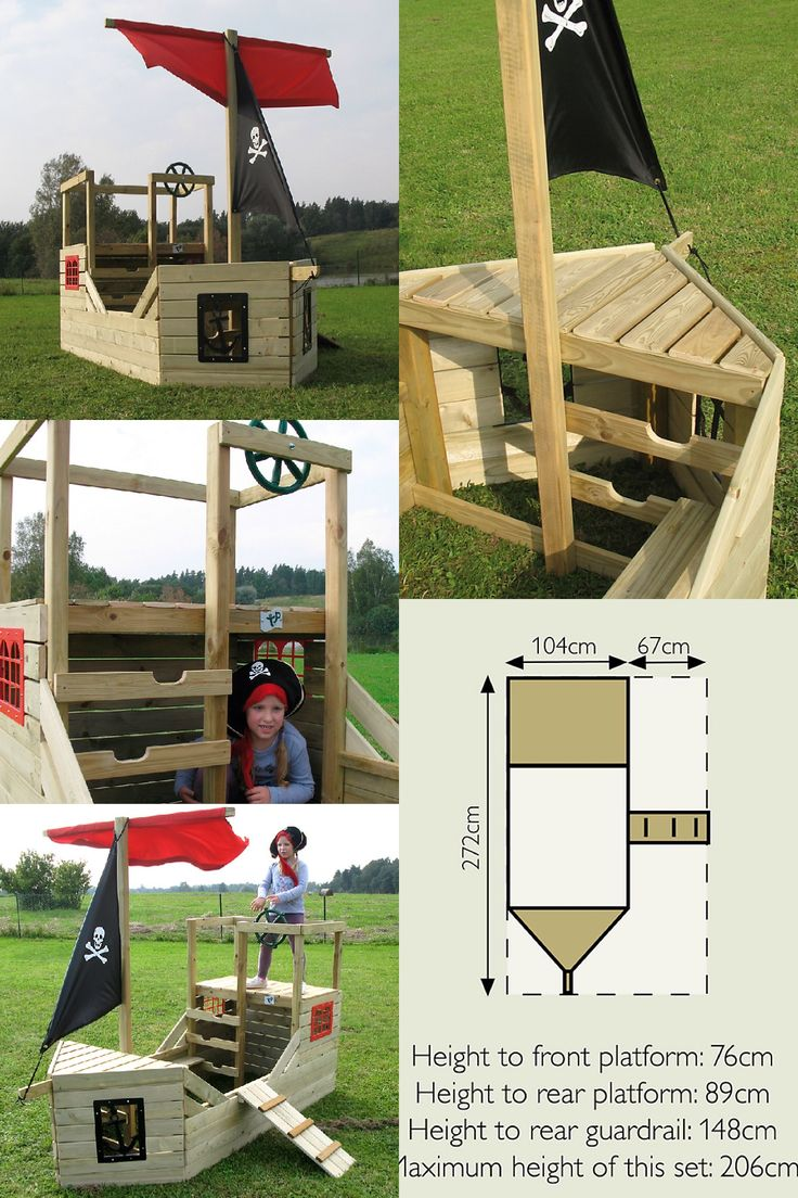 Child's play pirate ship