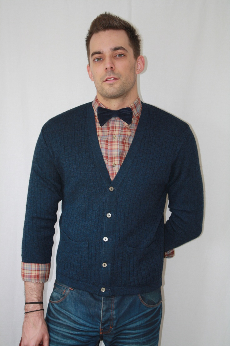 Vintage Wool Cardigan Vintage Levis Check Shirt And Vintage Velvet Bow Tie Available On Asos