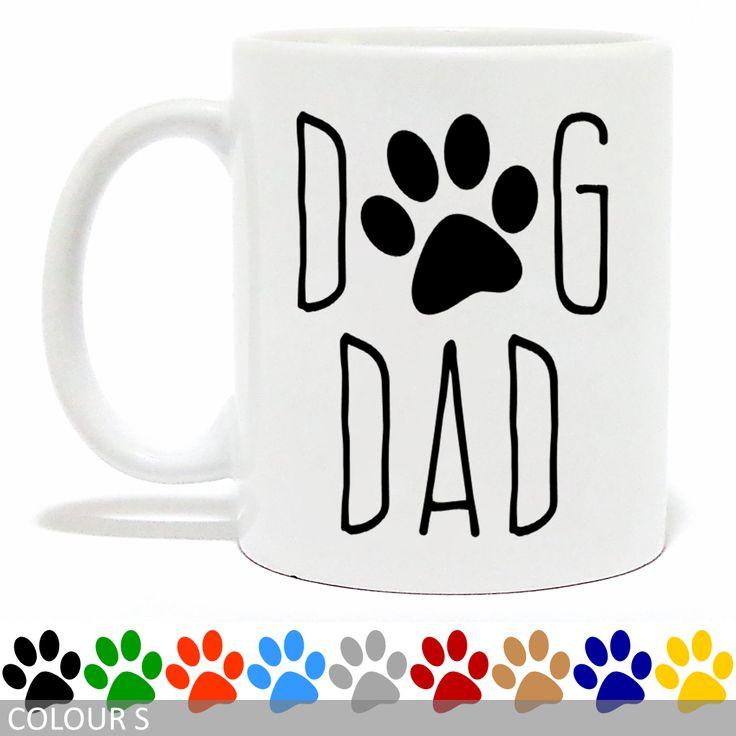 Dog Dad Mug - Paw Print