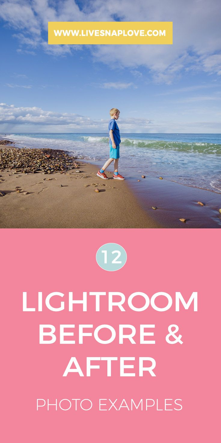 Lightroom Before and After Photo Examples - check out these before and after images to see what you can do in Lightroom!