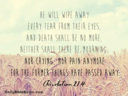 Revelation 21:4  I  DailyBibleMeme.com