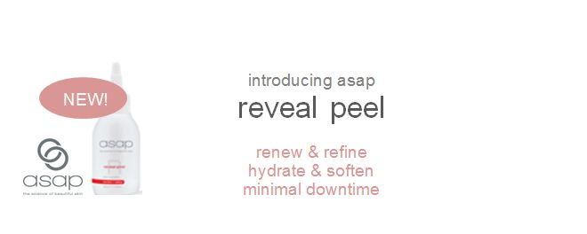 Peel back the years with asap's new range of professional peels! Suitable for all skin types, book into your local stockist NOW to experience fresher, younger looking skin with no downtime.