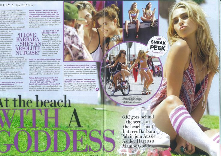 JULY - Print - OK Magazine. Ash Hart and Barbara Palvin give a behind the scenes look at our recent Mambo Goddess campaign, shot by Jason Lee Parry at Venice Beach. #ashhart #barbarapalvin #okmagazine #mambogoddess #jasonleeparry #venicebeach