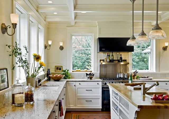Bright open kitchen space