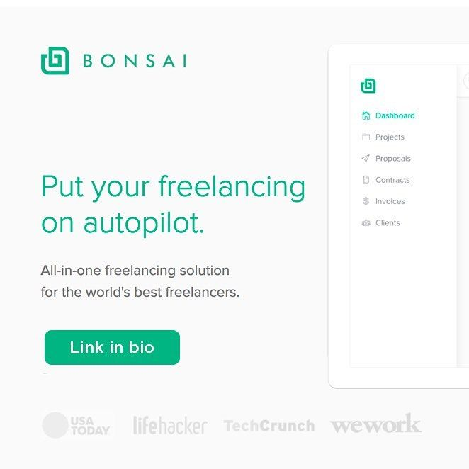 LINK IN BIO  http://ift.tt/2t8wC0n - All freelancers you need to check this product! - All Bonsai products are deeply linked so you dont spend time entering the same information again and again. Your client accepts a proposal they auto-draft your contract. Your client signs a contract they auto-generate the invoices.