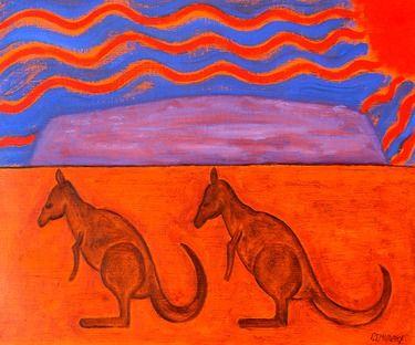 "Saatchi Online Artist Patrick J Murphy; Painting, ""AUSTRALIA"" #art"