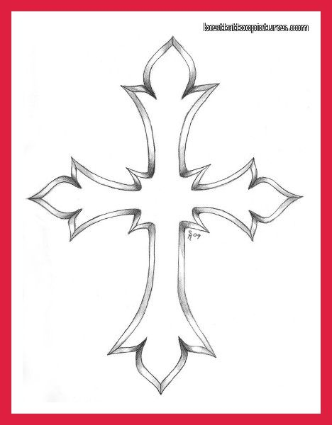 cross outline tattoo designs cross tattoo designs for men pictures photos pics photos videos. Black Bedroom Furniture Sets. Home Design Ideas