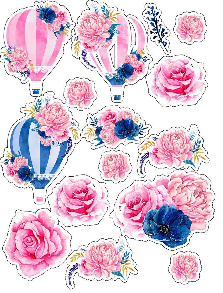 арты с цветами в виде наклеек работы