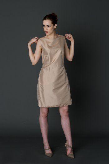 Stylish honey silk dress