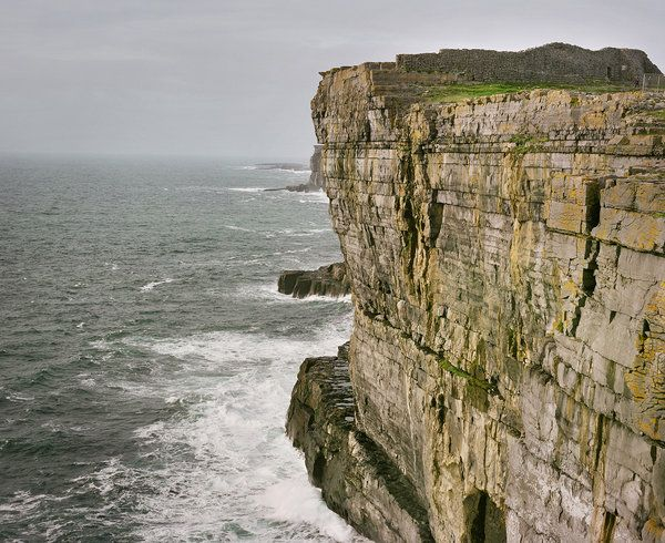 Dun Aonghasa, a prehistoric fort on the Aran Islands in Galway Bay.