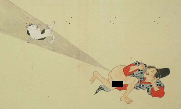 Japanese fart scolls
