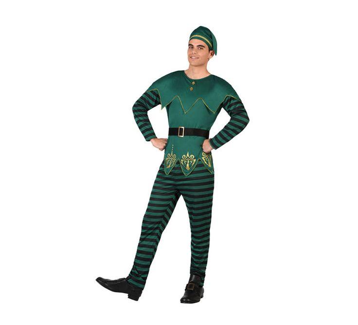 #Disfraz de #Duende verde de rayas para hombre. #saintpatrick #stpatrick #sanpatricio #disfraces #disfrazzes #costume #costumes