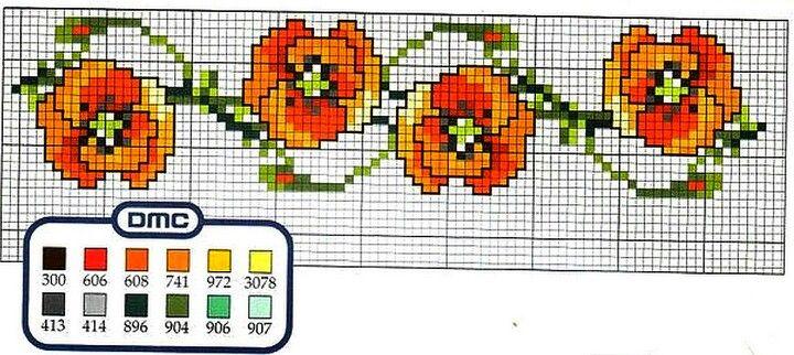 Poppy cross stitch