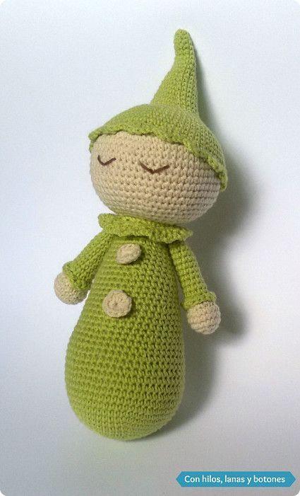 Después de haber hecho un par de muñecos dormilones ( dormilón amarillo con pajarita  y dormilón azul vichy ) siguiendo el patrón de L...