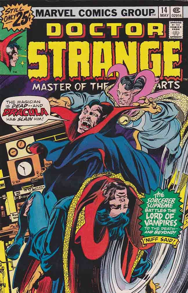 Dr Strange is a fictional character, a superhero who appears in comic books published by Marvel Comics. The character was co-created by writer-editor Stan Lee and artist Steve Ditko, and first appeared in Strange Tales #110 (July 1963).