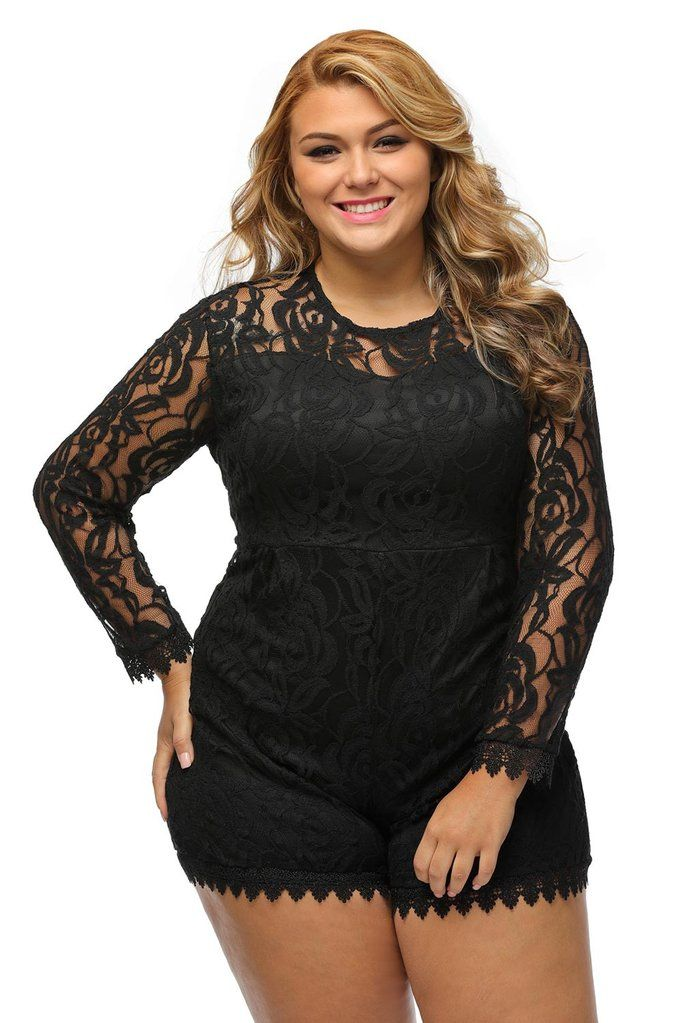 97a06fd6d27 Lace Love Plus Size Romper